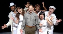 DONNA BISE - RAISE YOUR HANDS, CHILDREN: (L-R) L-Jae Levine, Caroline Bower, Mark Sutton, Kashanna Brown, Nicia Carla and Robbie Jaeger in Schoolhouse Rock Live!