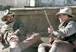 CHRIS LARGE/BUENA VISTA & OPEN RANGE PRODUCTIONS - RANGE ROVERS Kevin Costner and Robert Duvall in - Open Range
