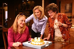 ACTOR'S THEATRE OF CHARLOTTE - REAL LIFE, REAL GRIEF: (from left) Polly Adkins (Nat), Chip Decker (Howie) and Susan Roberts Knowlson (Becca) in Rabbit Hole