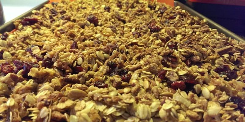 Recipe: Pomegranate Gingerbread Granola