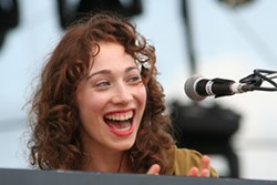 Regina Spektor has a laugh after forgetting some of her lyrics. (Bonnaroo, Manchester, Tenn., June 14-17)