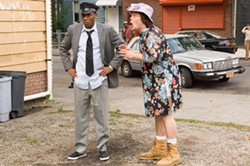 "ABBOT GENSER / NEW LINE - REGIONAL FILMMAKING: Mike (Mos Def) and Jerry (Jack Black) star in a ""remake"" of Driving Miss Daisy in the new comedy Be Kind Rewind."