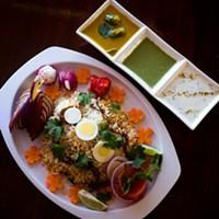 Rice dancing at Persis Biryani Indian Grill