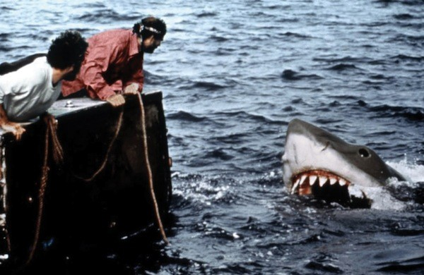 Richard Dreyfuss and Robert Shaw in Jaws (Photo: Universal)