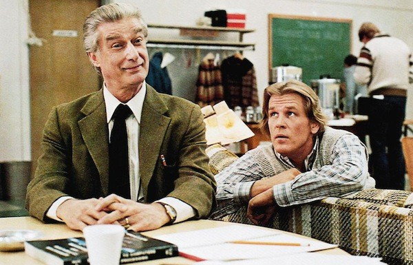 Richard Mulligan and Nick Nolte in Teachers (Photo: Olive Films)