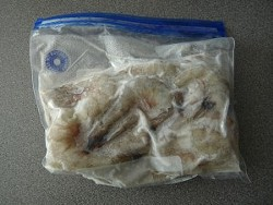 R.I.P., last bag of non-tainted shrimp
