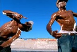 DAVID LACHAPELLE / LIONS GATE - RIZE AND SHINE Lil' C and Tight Eyez show off their - exemplary moves in Rize