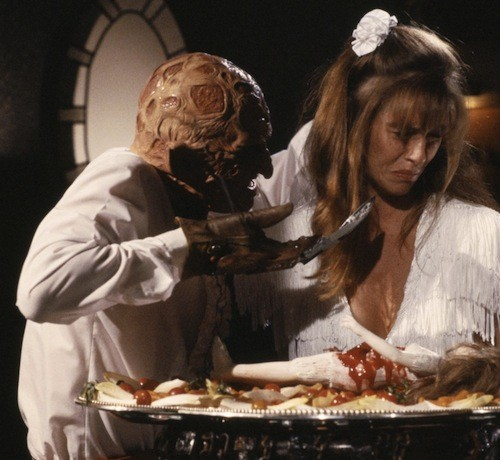 Robert Englund and Erika Anderson in A Nightmare on Elm Street 5: The Dream Child (Photo: Warner Bros. & New Line)