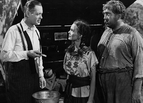 Robert Montgomery, Wanda Hendrix and Thomas Gomez in Ride the Pink Horse (Photo: Criterion)