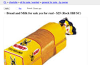 Rock Hill resident sells bread and milk through Charlotte Craigslist ad in advance of snow