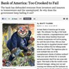 <i>Rolling Stone</i> says Bank of America is too big — er, crooked — to fail