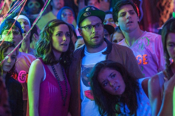 Rose Byrne and Seth Rogen in Neighbors. (Photo: Universal)
