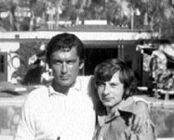FOCUS FEATURES - ROSEMARY'S PARENTS Robert Evans and director - Roman Polanski in The Kid Stays In the Picture