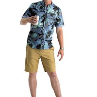 SilverFly | 1111 Metropolitan Ave. Suite 1507 Diamonds Diamond Head Hawaiian print shirt: $79Penguin Solid Basic Short: $55Parke & RonenFlip Flops: $25