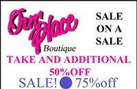 Sale on a sale at Our Place
