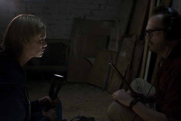 Sara Paxton and Pat Healy in The Innkeepers (Dark Sky Films)