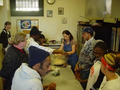 Sarah Klein heads a baking outreach program for Charlotte's homeless at Urban Ministries. - JARED NEUMARK