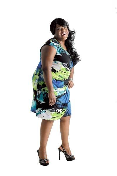 Scarlett Plus Size Boutique | 4732 Sharon Road Lana Sport knit dress: $109.99 - MODEL: TOYA BAILEY | PHOTO: JIM MCGUIRE | MAKEUP: JAMI SVAY