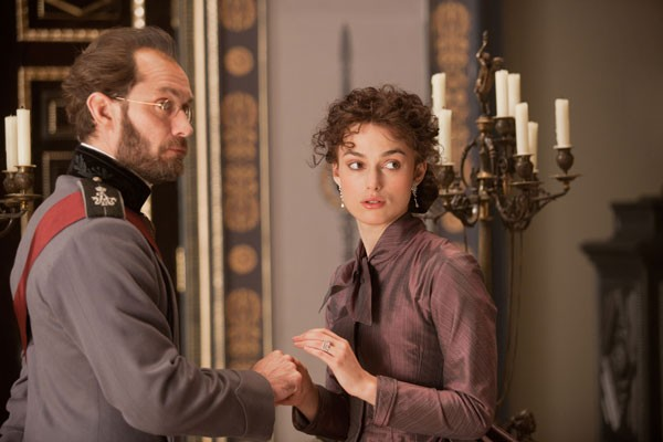 SCENE FROM A MARRIAGE: Karenin (Jude Law) and Anna (Keira Knightley) in Anna Karenina (Photo: Focus Features)