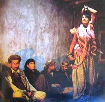 Scene from documentary on bacha bazi in Afghanistan
