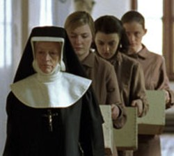 MIRAMAX - SECOND TO NUN One of the sadistic Sisters keeps - Dorothy Duffy, Nora-Jane Noone and Anne-Marie Duff - in line in The Magdalene Sisters