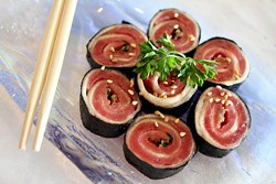 ASHLEY GOODWIN - SIZING UP THE SUSHI: Simplee Sushi offers plenty of choices.