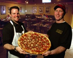 RADOK - SLICE IT UP John Adams (L) and Danny McNally of - Hawthorne's New York Pizza & Bar