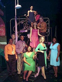 BOB TULLY - SMOKING IT UP: The cast of Smokey Joe's Cafe