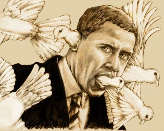 So peaceful, he's got doves coming out his ears (Art by Derek Chatwood)