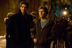 SONY - SOCIAL OUTING: Andrew Garfield and Jesse Eisenberg in The Social Network