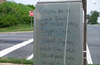 Somebody is waging their own personal race war in Uptown