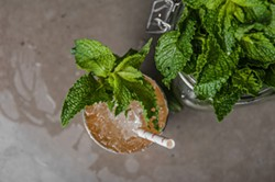JUSTIN DRISCOLL - Soul Gastrolounge's bourbon honey julep