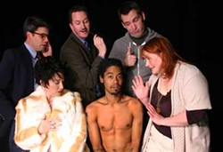COURTESY ROBERT TOUCHSTONE - SOUTHERN STYLE: (l to r) Tim Ross, Sheila Snow Proctor, Joe Rux, Jeremy DeCarlos, Nathan Rouse, Laura Depta.