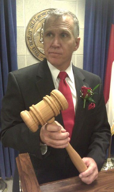 Speaker Thom Tillis gonna whomp sumbody over the head if they blame him for teacher layoffs