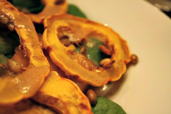 Spiced pumpkin seeds adds crunch!