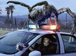 VILLAGE ROADSHOW & WARNER - SPIDER, MAN Rick Overton takes on an  unexpected - passenger in Eight Legged Freaks