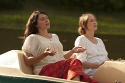 SONY PICTURES CLASSICS - SPIRIT IN THE SKY: Annika (Dagmara Dominczyk) and Corinne (Vera Farmiga) seek guidance in Higher Ground.