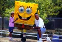Spongebob Squarepants will entertain kids of all ages at - Paramounts Carowinds throughout the summer