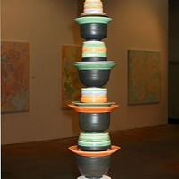 Stacked piece by Benjamin Schulman included in SOUP exhibit at Hart Witzen Gallery