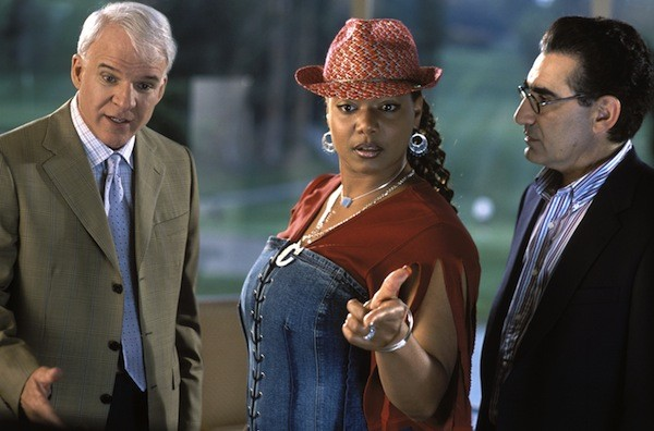 Steve Martin, Queen Latifah and Eugene Levy in Bringing Down the House (Photo: Disney)