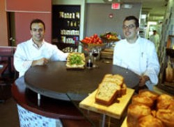 RADOK - Stratos Lambos, chef/owner (right) and Frank - Kaltsounis, pastry chef at Ilios Noche (Chef - Angelo Kaltsounis not pictured)