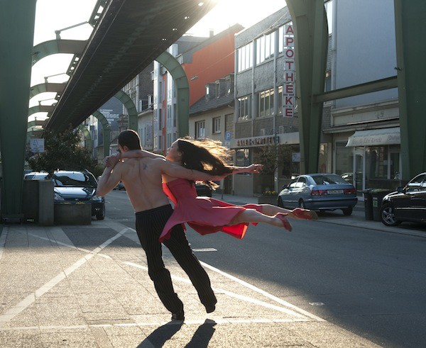 STREETS OF FIRE: Members of the Tanztheater Wuppertal engage in an incendiary outdoor dance in Pina