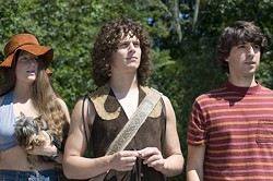 FOCUS FEATURES - SURVEYING THE SCENE: Mamie Gummer, Jonathan Groff and Demetri Martin in Taking Woodstock.