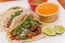 JUSTIN DRISCOLL - Taco spread at Fonda La Taquiza