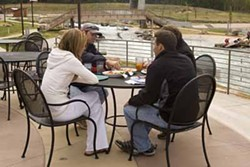 ANGUS LAMOND - TAKE IT OUTSIDE: Enjoy food and drink specials on the patio at The U.S. National White Water Center.