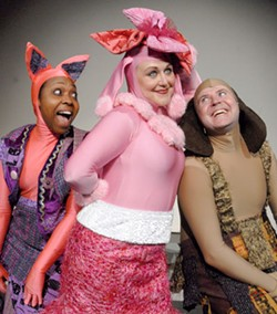DONNA BISE - Tanya McClellan, Barbi Van Schaick and Scott Helm star in Children's Theatre of Charlotte's production of Go, Dog. Go! now playing at the McColl Family Theatre at ImaginOn.