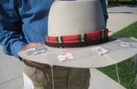 Tea baggers preparing for Obama's visit to the Q.C.