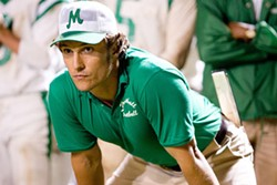 FRANK MASI / WARNER BROS. - TEAM DISPIRIT Jack Lengyel (Matthew McConaughey) takes over a football team rocked by tragedy in We Are Marshall
