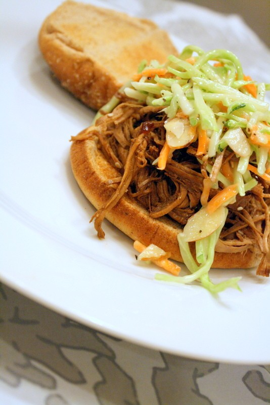 Teriyaki Sesame Pork with Asian Slaw