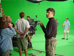 JARED NEUMARK - THAT CHICKEN IS GOOD The green painted walls inside Silver Hammer Studios make it possible to superimpose backdrops around the actors